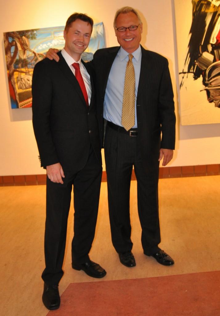 Dr. Daniel Becker (left) with Producer Chris Schueler (right)